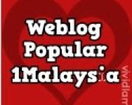 Weblog Popular 1Malaysia dan PEMENANGnya adalah ……