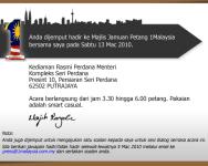 Dijemput ke Majlis Jamuan Petang 1Malaysia bersama PM
