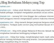 5 Blog Berbahasa Melayu yang Top