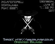 Kumpulan Pengodam Anonymous Ingin Menyerang Halaman Portal Kerajaan