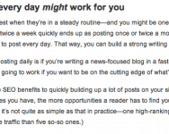Perlu Ke Update Blog Dengan Terlalu Kerap?