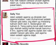Sally Yen Menghina Islam