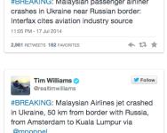 Pesawat MAS MH17 ditembak di Ukraine