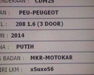 Gadis Peugeot CDM25 terlajak biadab