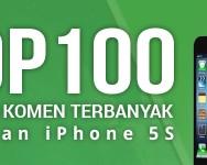 Senarai 100 penulis komen terbanyak contest iPhone 5S