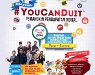 Pemangkin Duit Digital : Program #YouCanDuit Kuantan 27 dan 28 Ogos