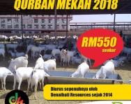 Rebut Peluang Laksanakan Qurban Kambing Mekah 2018
