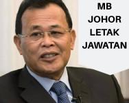 MB Johor, Osman Sapian letak jawatan
