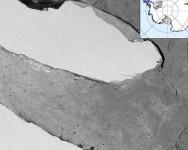 Satelit rakam gambar bongkah ais terbesar 160km berputar 270 darjah