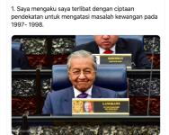 Pengakuan Tun Mahathir dalam Krisis Kewangan 1997-1998, selamatkan Taikun