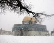 2021 sekali lagi Salji meliputi Masjid Al Aqsa kali terakhir tahun 2013